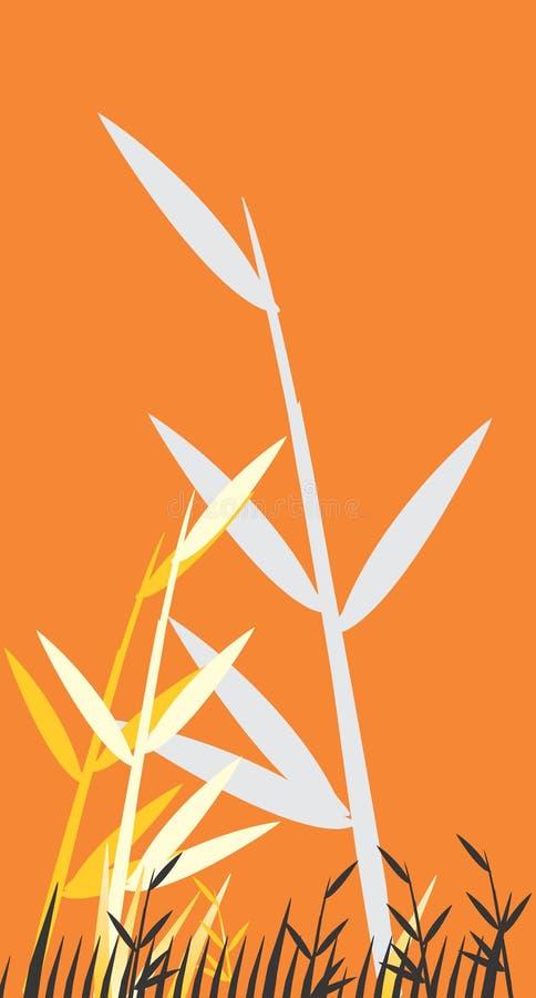 bambusowy ilustracyjny drzewo royalty ilustracja