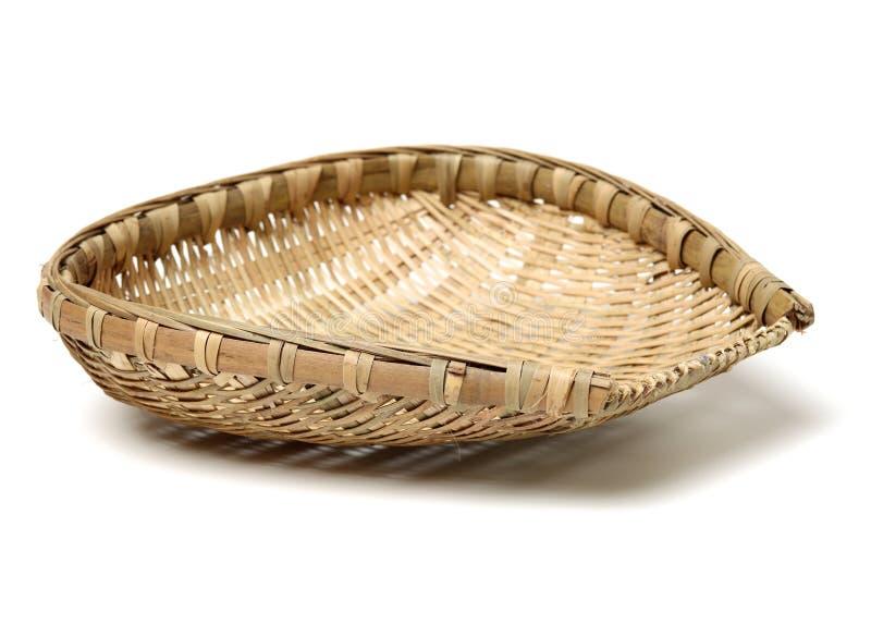 Bambusowy kosz zdjęcia royalty free