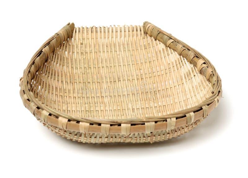 Bambusowy kosz fotografia stock