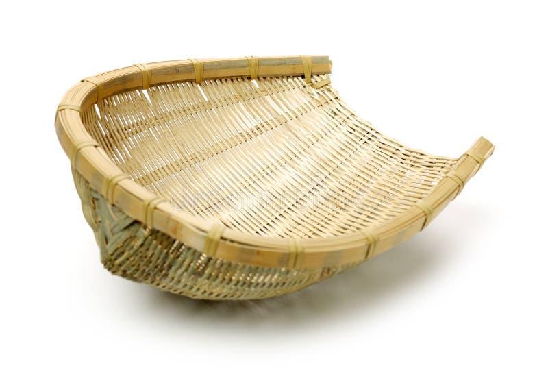 Bambusowy kosz obraz stock