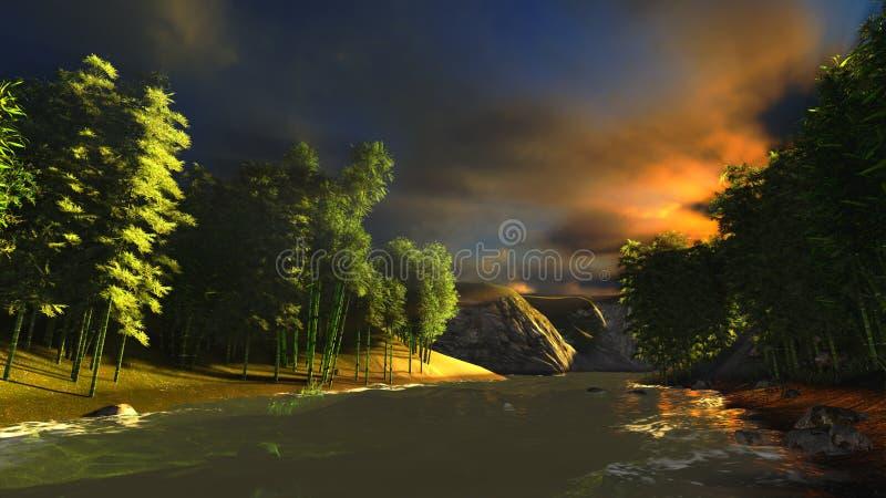 bambusowy las ilustracji