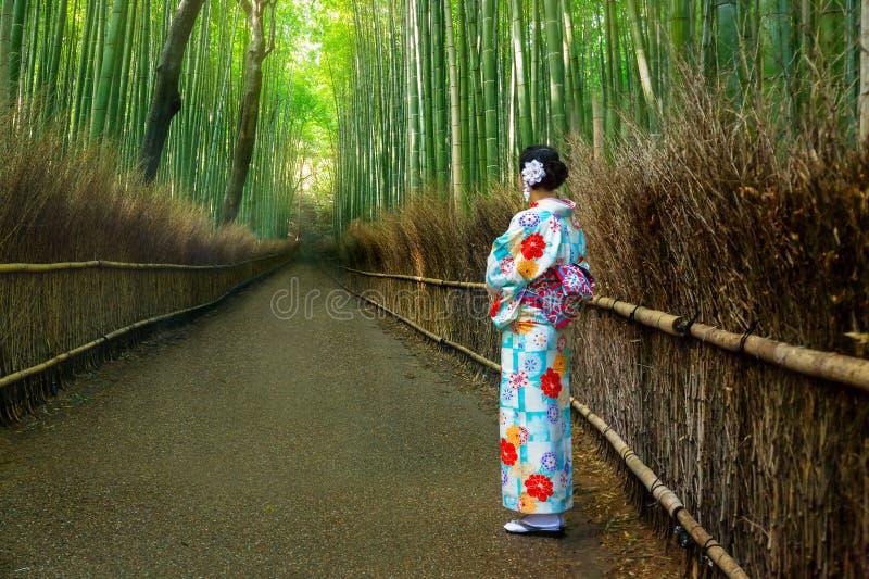 Bambusowy las Arashiyama obrazy stock