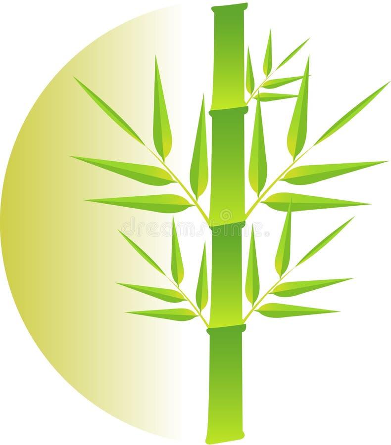 Bambusowy logo royalty ilustracja
