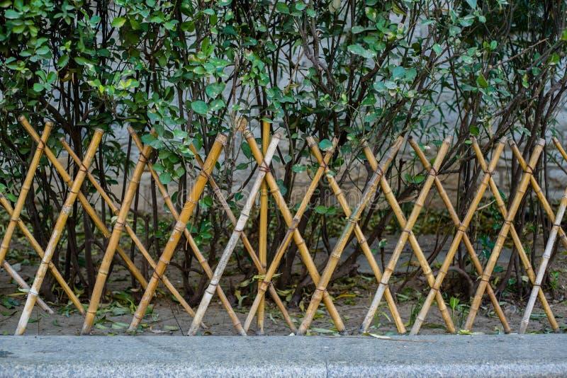 Bambusowy ogrodzenie zdjęcie stock
