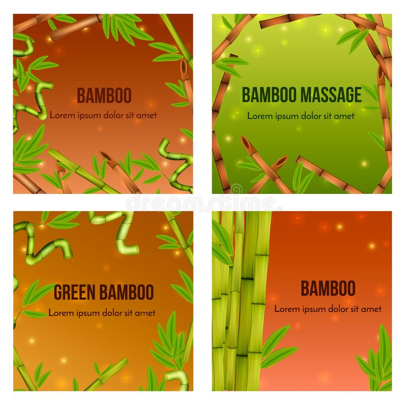 Bambusowy Realistyczny pojęcie ilustracja wektor