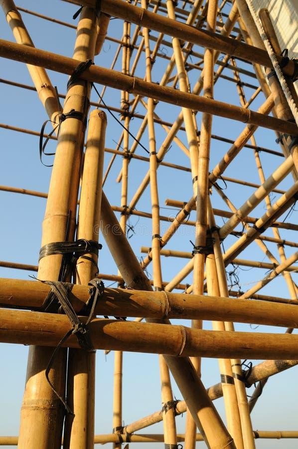 bambusowy rusztowanie fotografia royalty free