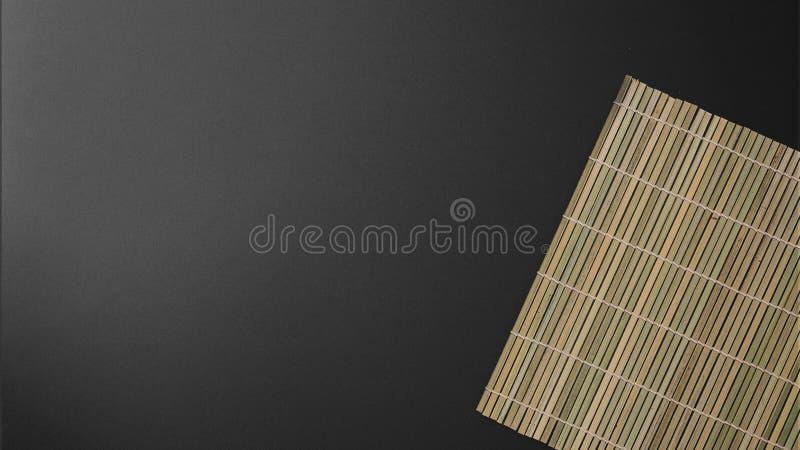 Bambusowy ustawiający na czarnym tle obrazy stock