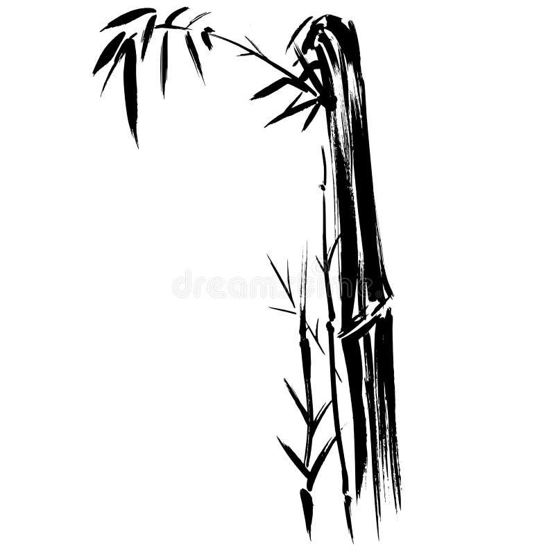 Bambusschattenbild-Zeichnung ENV Stockfoto