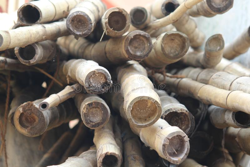 Bambusstock, Bündel Bambusstöcke, lizenzfreies stockbild