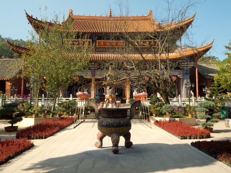 Bambustempel in Kunming, China stockfoto