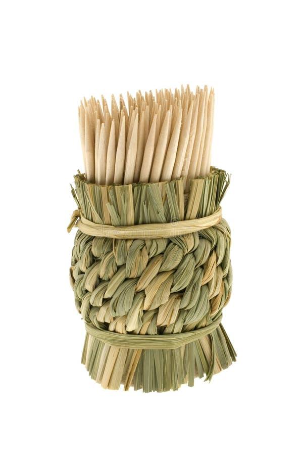 Bambustoothpicks stockbild