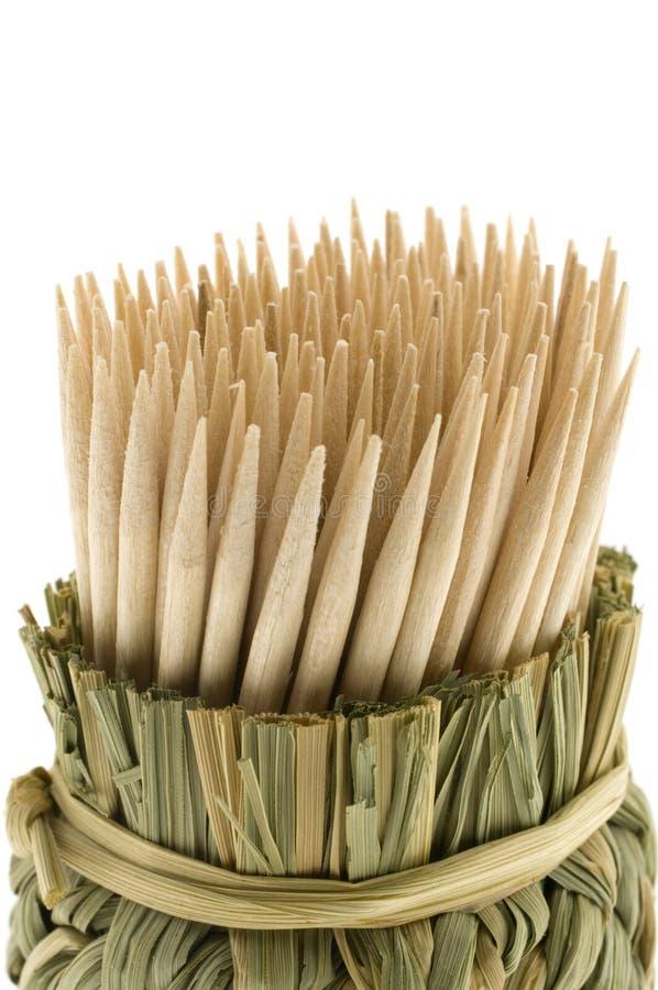 Bambustoothpicks stockfotografie
