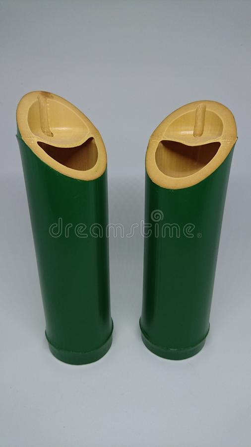 Bambustrommel lizenzfreies stockbild