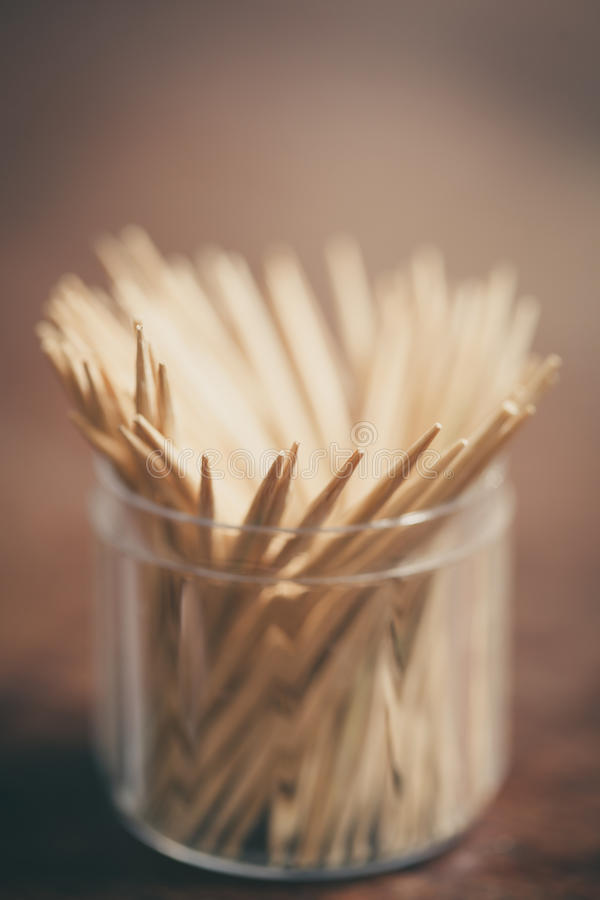 Bambuszahnstocher lizenzfreie stockfotos