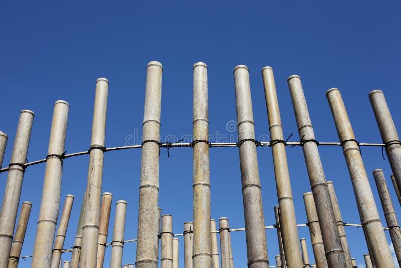 Bambuvägggarnering arkivfoto
