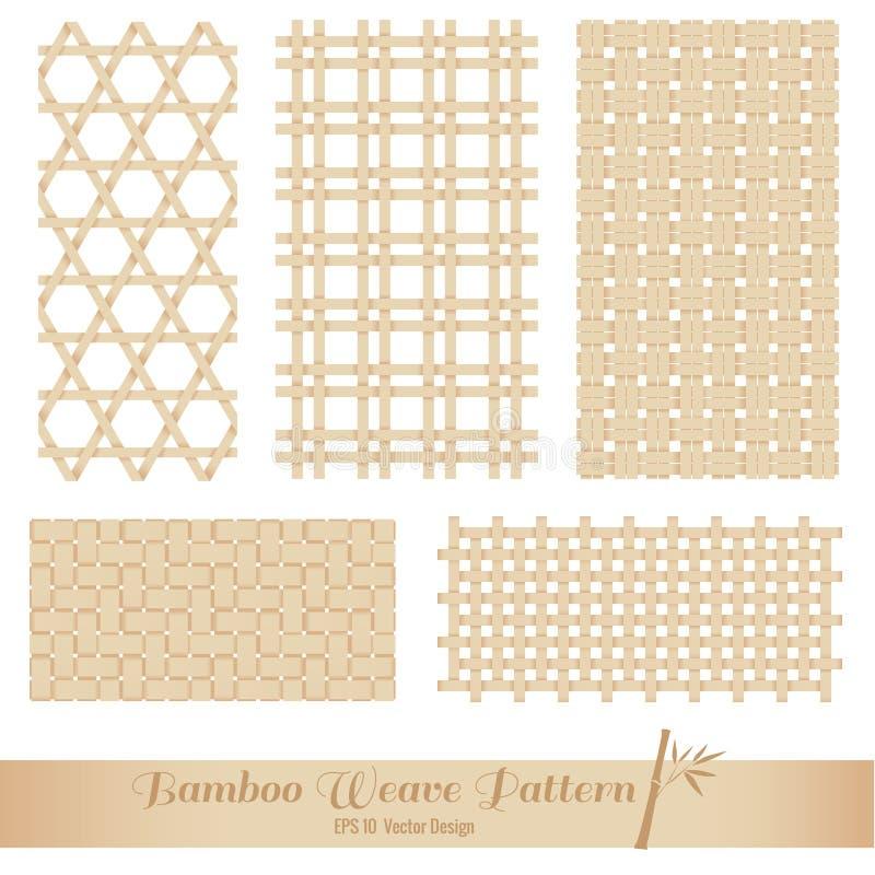 Bambuväv mönstrar vektor illustrationer
