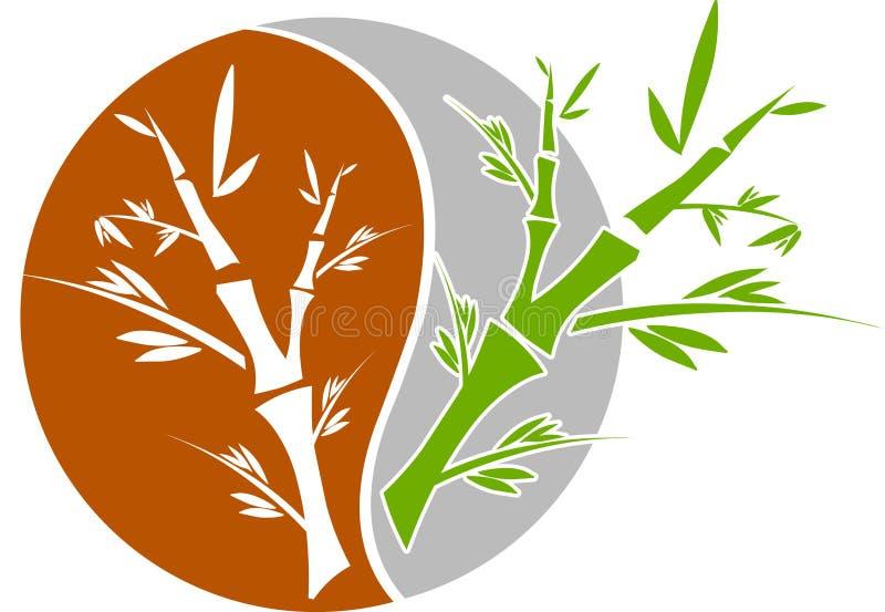 bambuväxter royaltyfri illustrationer