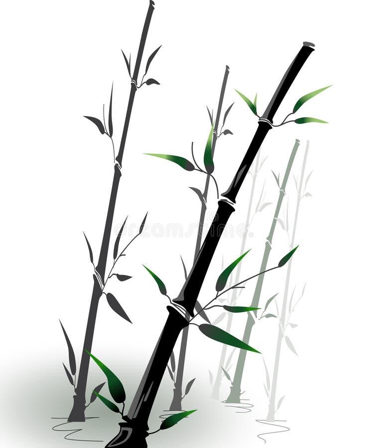bambuvektor stock illustrationer