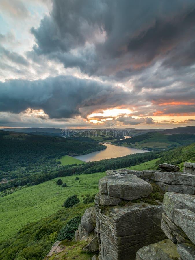 Bamford-Rand-Sonnenuntergang lizenzfreies stockbild