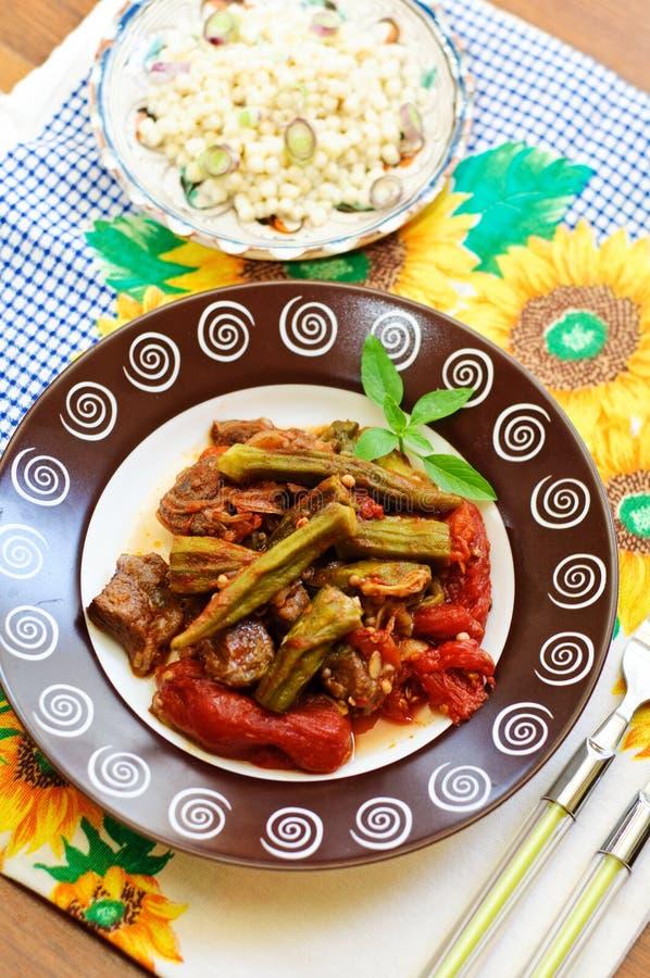 bamia couscous zdjęcie royalty free