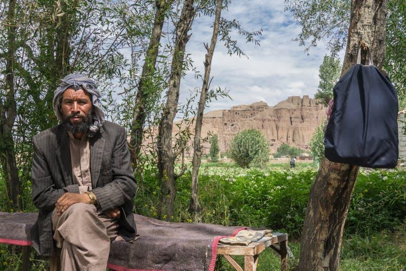 Bamiyan Afghanistan hovslagare royaltyfri bild