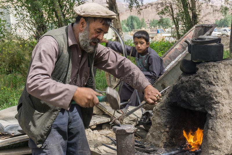 Bamiyan Afghanistan - hovslagare royaltyfria bilder