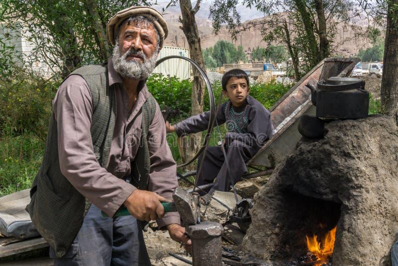 Bamiyan Afghanistan - hovslagare royaltyfria foton