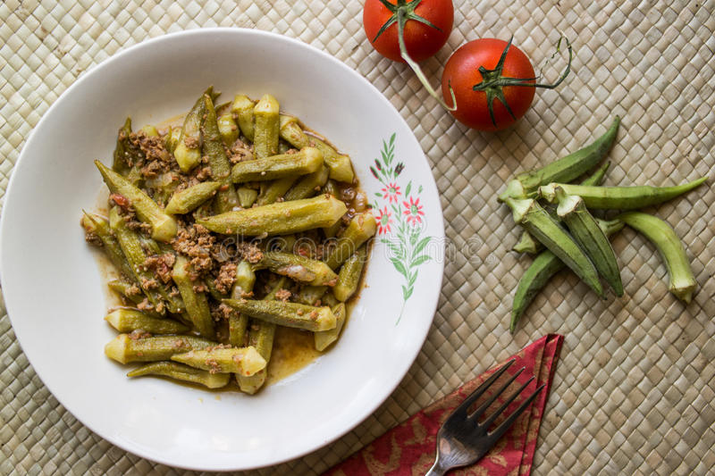 Turkish Food Okra Dish With Tomatoes And Onion Slices ... |Turkish Food With Okra