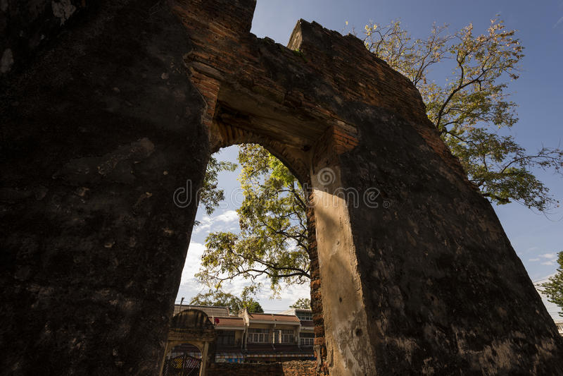 Ban Chao Wichayen, an ancient residence for French envoys, ambassadors of Ayutthaya Kingdom royalty free stock photos