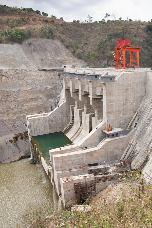 Ban Chat hydro power plant, the dam is built on Muong Kim commune, Than Uyen Town, Lai Chau Province, Vietnam. This is one of two. Works in cascade hydraulic on stock image