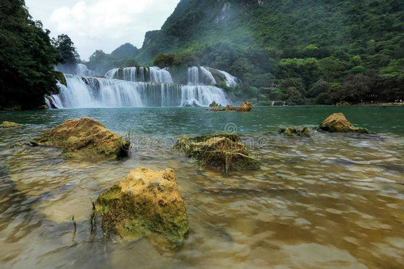 Ban Gioc Waterfall stock photos