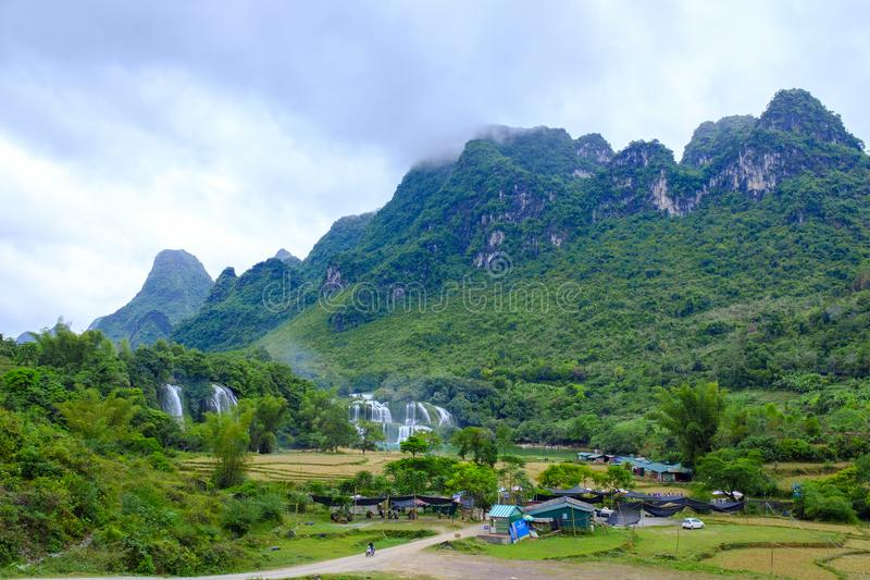 Ban Gioc Waterfall in Vietnam royalty free stock photography