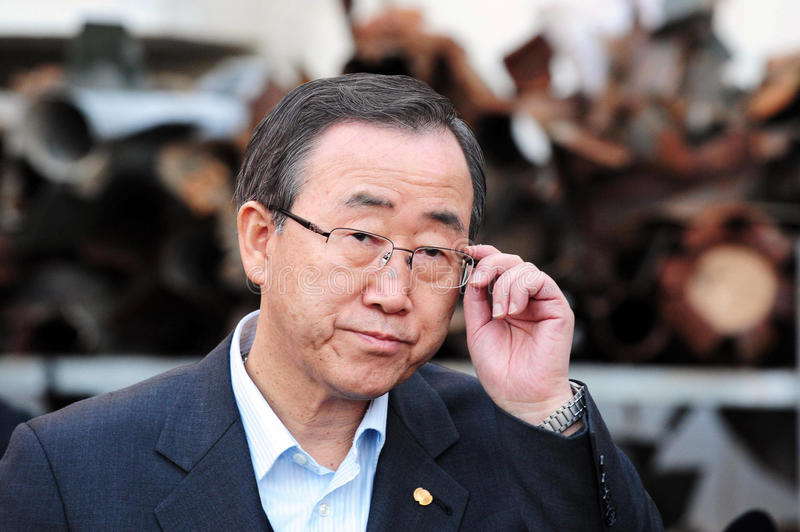 Ban Ki-moon - sekreterare General av FN royaltyfri foto