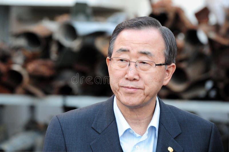 Ban Ki-moon - sekreterare General av FN arkivbild