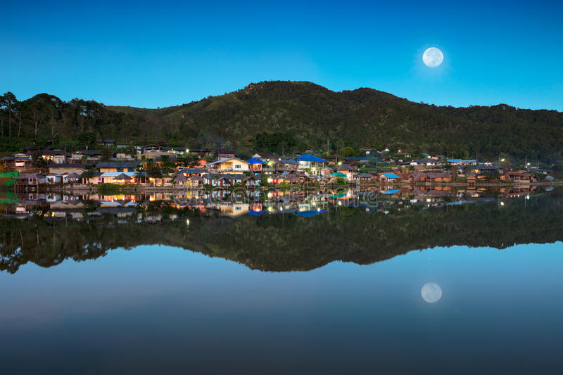 Ban Rak Thai. A Chinese settlement in Mae Hong Son province, Northern Thailand. The village was established, and is still populated by Chinese Kuomintang royalty free stock images