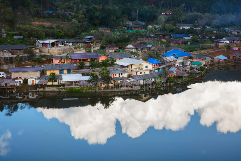 Ban Rak Thai. A Chinese settlement in Mae Hong Son province, Northern Thailand. The village was established, and is still populated by Chinese Kuomintang royalty free stock photos