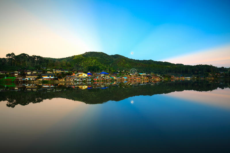 Ban Rak Thai, a Chinese settlement in Mae Hong Son province. Northern Thailand. The village was established, and is still populated by Chinese Kuomintang royalty free stock photos