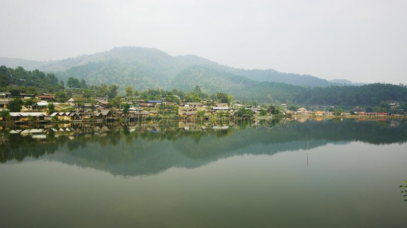 Ban Rak Thai, a Chinese settlement in Thailand. Ban Rak Thai, a Chinese settlement in Mae Hong Son province, Northern Thailand. The village was established, and royalty free stock image