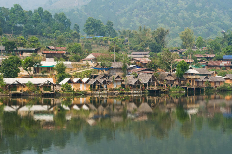 Ban Rak Thai, a Chinese settlement in Thailand. Ban Rak Thai, a Chinese settlement in Mae Hong Son province, Northern Thailand. The village was established, and royalty free stock photography