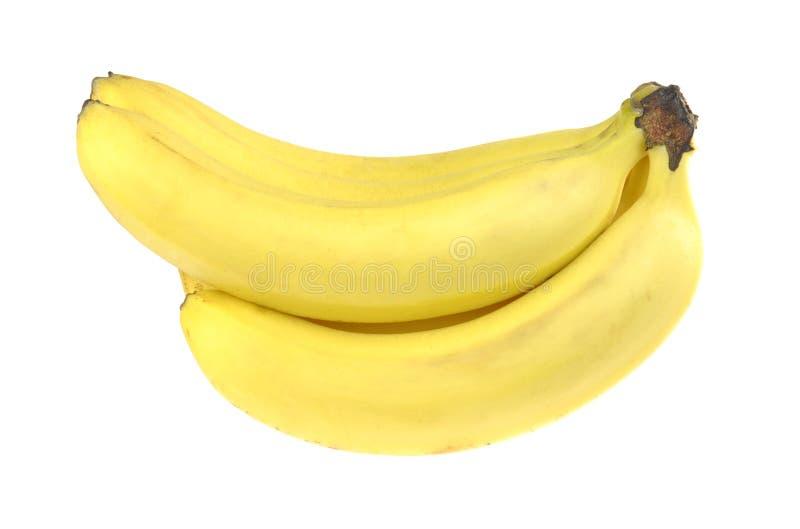 Banaan Bos van rijpe die bananen, op witte achtergrond wordt geïsoleerd stock foto