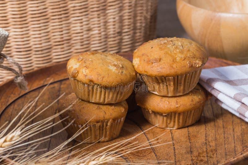 Banaan cupcake royalty-vrije stock foto