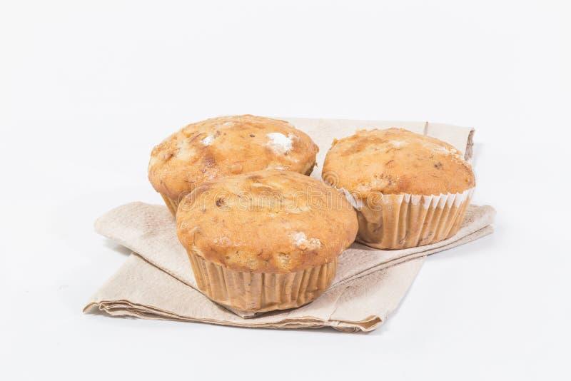 Banaan cupcake royalty-vrije stock fotografie