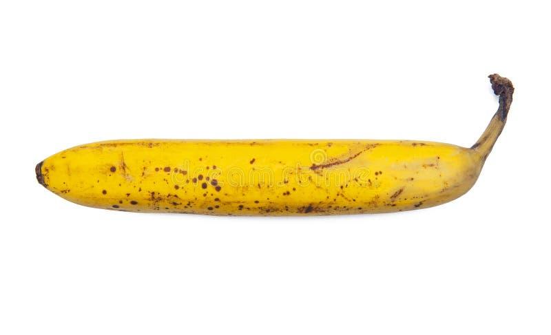 Banaan die op wit wordt geïsoleerde royalty-vrije stock afbeelding
