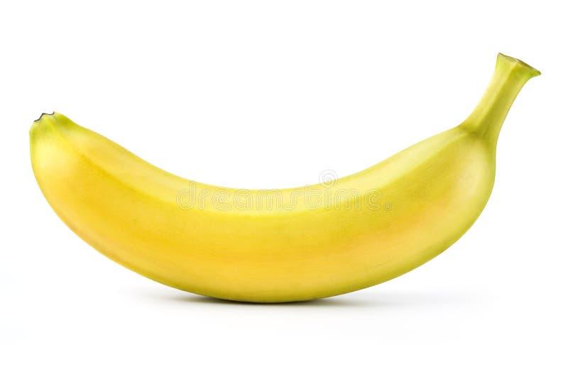 Banaan die op wit wordt geïsoleerde Met het knippen van weg stock afbeeldingen