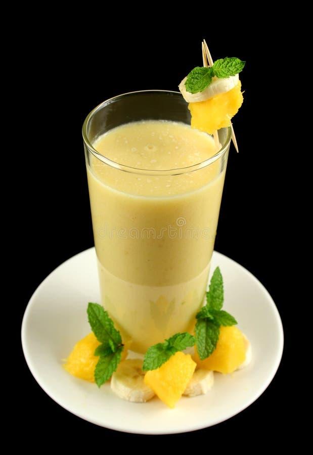 Banaan en Mango Smoothie 1 stock afbeelding