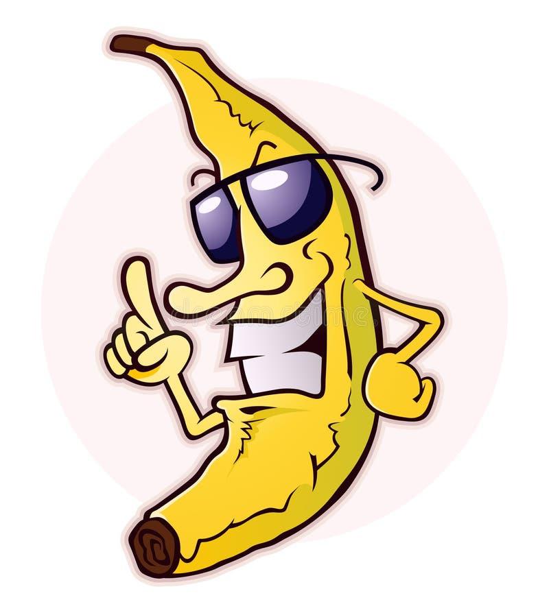 Banaan met Houding stock illustratie