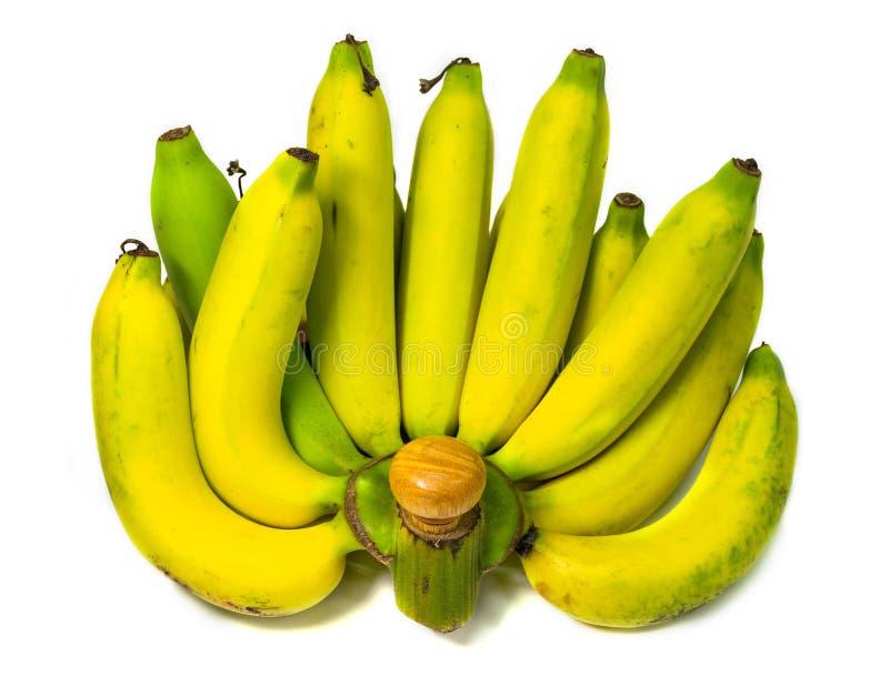 Banaan op wit geïsoleerde achtergrond royalty-vrije stock foto