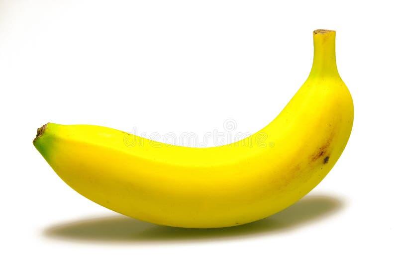 Banaan op witte achtergrond royalty-vrije stock afbeeldingen