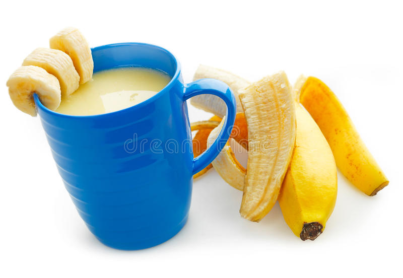 Banaan Smoothie royalty-vrije stock fotografie