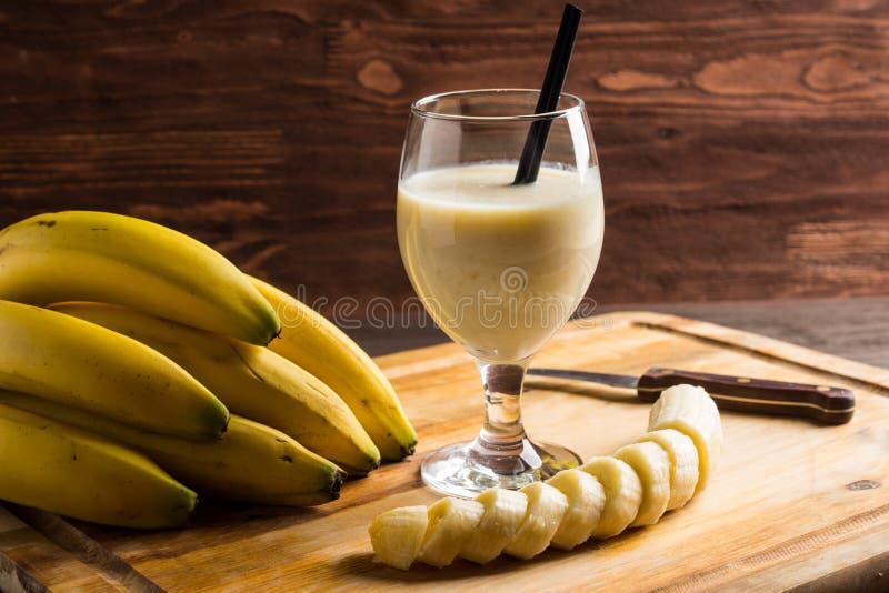 Banaan Smoothie royalty-vrije stock afbeelding